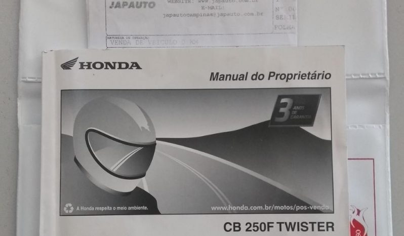 HONDA CB-250F TWISTER 2018 cheio